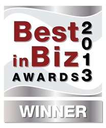 2013 Best in Biz Silver Award
