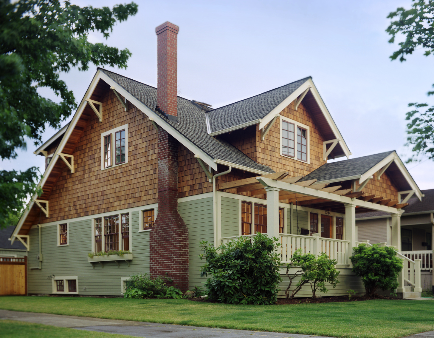 Seven home styles of the pacific northwest illustrated by Brick craftsman house
