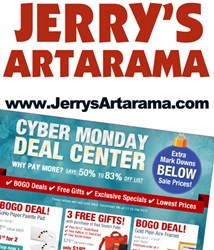 Cyber Monday Sale at JerrysArtarama.com