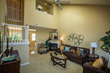 Spacious living areas and volume ceilings