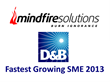 Mindfire Awarded D&B Fastest Growing SME 2013 Award