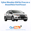 Bid on a new car for free on QuiBids on Cyber Monday