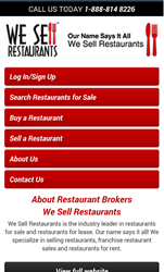 restaurant brokers mobile website