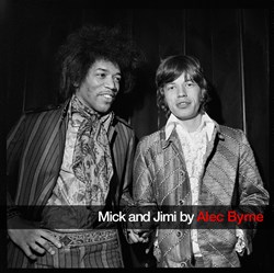 Mick Jagger and Jimi Hendrix by Alec Byrne