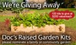 Super-Sod is Donating their Doc's Raised Garden Kits to Families...