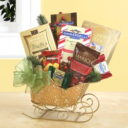 Christmas Gift Basket Sledge