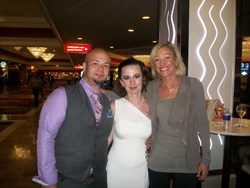 Daniel and Maranda Moore with Kim Kiyosaki