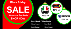 Shop Black Friday Motorcycle Gear Deals