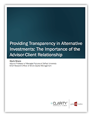 Providing Transparency in Alternative Investments White-Paper by Mark Shore published by Gate 39 Media