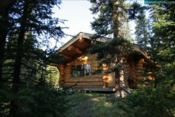 A beautifully secluded cabin in the Rocky Mountains.