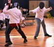 Students at Everest Academy in Lemont, IL compete in the academy's first fencing competition.