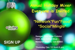 Orange County Holiday Mixer by oGoing - Thursday December 12 at 6 pm in Newport Beach, CA