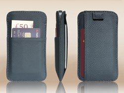 Vaultskin Windsor Sleeve Wallet in Navy Blue