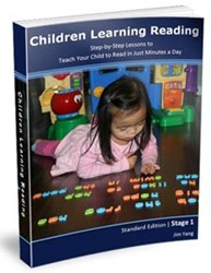 children learning reading program can