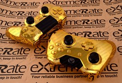 Chrome Gold Xbox One and PS4 Controller Shell