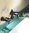 herbeau 3023 double handle wall mount kitchen faucet from the royale series