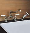 herbeau 3327 royale collection bridge-style kitchen faucet with sidespray