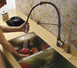 Vigo VG02001ST - stainless steel pull-out spray kitchen faucet