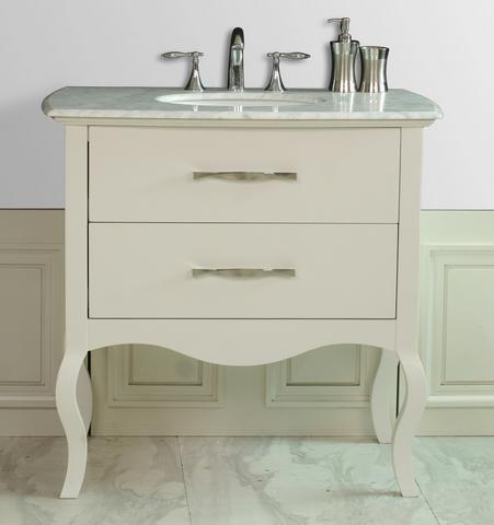 Stufurhome GM 1201 37 CR 37  Elizabeth Single Sink Vanity with Italian  Carrara Marble Top. HomeThangs com Has Introduced a Guide to Contemporary Antique