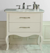 "Stufurhome GM-1201-37-CR 37"" Elizabeth Single Sink Vanity with Italian Carrara Marble Top"