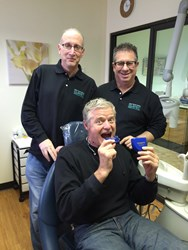Super Bowl Champion Bart Oates With His Oral Appliance For Sleep Apnea nfl pro player health alliance long island dental sleep medicine sleep herbst