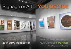 Nova Polymers' NovAcryl®  Designer Series ADA-Compliant Signage