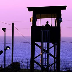 Guard tower at Guantanamo Bay detention camp. CREDIT: The National Guard