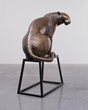 "From ""Conservation Gallery"": Gwynn Murrill (United States, b. 1942), Tiger 2, 2012 -2013. Bronze. 42 x 62 x 31 inches. Dr. Lee W. Lenz, National Museum of Wildlife Art. © Gwynn Murrill."