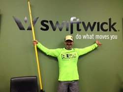 Swiftwick Athlete Shane Perrin at Swiftwick HQ before he embarked on his record