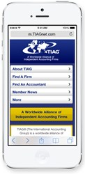 International Accounting Alliance TIAG Launches Innovative Mobile Website