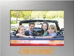 Visor Frames, Your Text Can Wait, No texting While Driving, Safe Driving, Picture Frame, Visor Frame, it can wait, Stop texting while driving