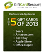 GiftCardRescue.com Top Electronic Appliances Gift Cards