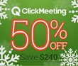 ClickMeeting Christmas Promo: Celebrating the Holiday Season with 50%...