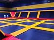 trampoline park, trampoline court