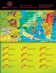 Art Basel Miami Map 2013