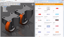 Sourcing CADENAS caster models within the Autodesk® Fusion 360™ Interface