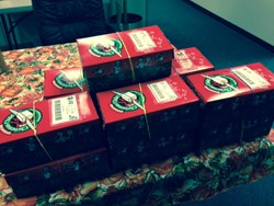 Operation Christmas Child Gifts from Foundation Financial Group