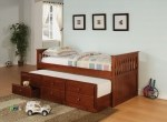 Image of the Cozy Cherry Bed w/ Trundle