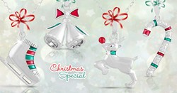 Image of 4 diamond accent pendants given away with purchase of $99+ of Kameleon, Chamilia or Swarovski products.