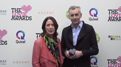 Kathryn List travelled to London with Michael Ksela to collect the Lovie Award for the Helmut List Halle App.