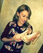 Kylie Minogue donates shoes to Small Steps Project 2013