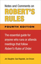 Notes and Comments on Robert's Rules