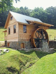 Award-winning grist mill built by Justin Metcalf and his Wood-Mizer LT40 Hydraulic.