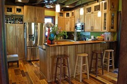 Award-winning kitchen remodel by Chris Becker and his Wood-Mizer LT40 Hydraulic sawmill.