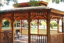 Award-winning gazebo built by Gary Allison and his Wood-Mizer LT40 sawmill.