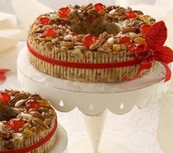 gourmet fruitcake food gift