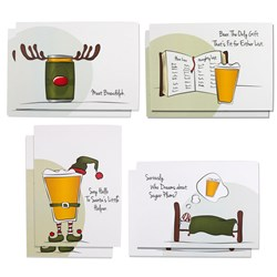 KegWorks Beer-Centric Holiday Greeting Cards