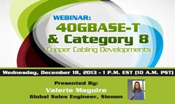 40GBASE-T and Category 8 Webinar