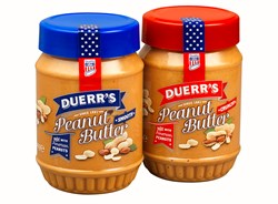 Duerr's Peanut Butter packed in plastic jars from Esterform Packaging