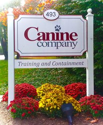 Canine Company, sign, dog, obedience, containment, invisible fence